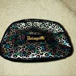 Betseyville colorful leopard print cosmetic bag